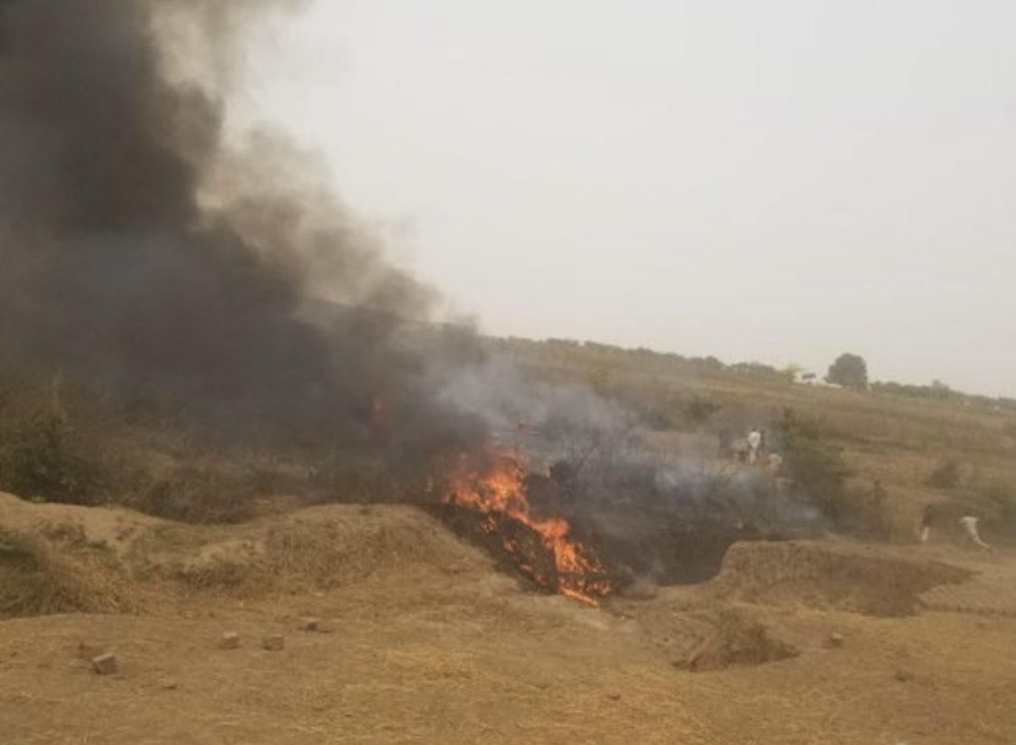 Breaking: Seven feared dead in Abuja Nigerian Air Force plane crash