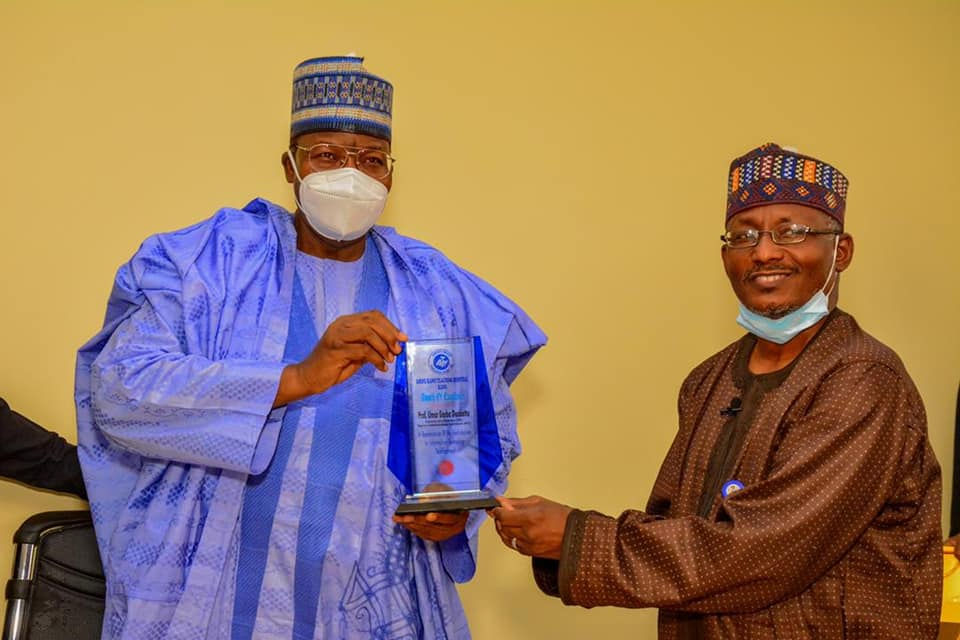 Digital Infrastructure And Literacy Key To  Reaping Transformational Benefits Of ICT – Umar Danbatta  – Receives AKTH Appreciation Award