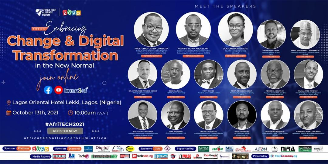 NCC, NITDA, GBB,Zoho, Rack Centre, others support #AfriTECH2021