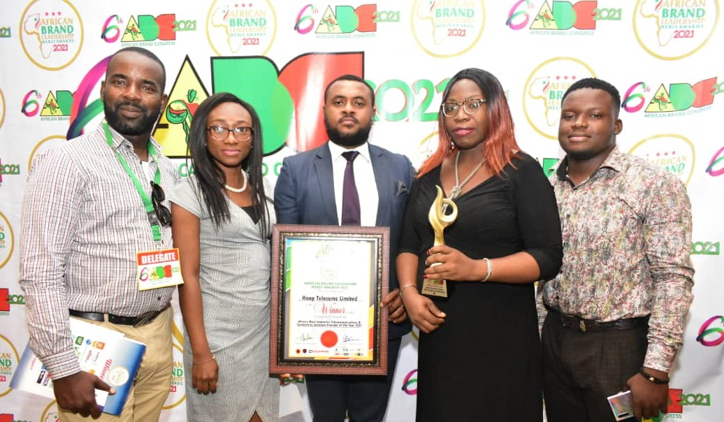 Hoop Telecoms Baggs Africa's Most Innovative Telecoms & Connectivity Provider Of The Year Award